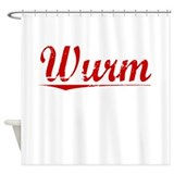 Wurm, Vintage Red Shower Curtain