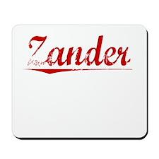 Zander, Vintage Red Mousepad