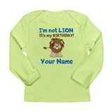 Lion Birthday Long Sleeve Infant T-Shirt