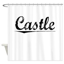 Castle, Vintage Shower Curtain