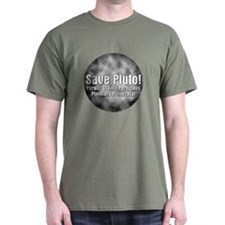 Save Planet Pluto Black T-Shirt