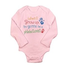 Kids Future Phlebotomist Long Sleeve Infant Bodysu