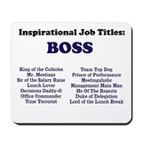 Man Boss Funny Job Titles & Names Mousepad