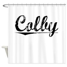Colby, Vintage Shower Curtain