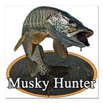 Musky, 6 Square Car Magnet 3