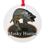 Musky, 6 Round Ornament