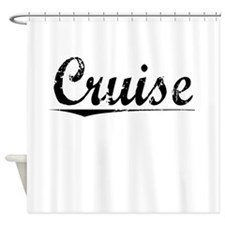 Cruise, Vintage Shower Curtain