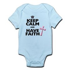 Keep Calm and Have Faith - pink polka-dots Infant