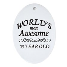Awesome Birthday Ornament (Oval)