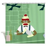 Sock monkey Shower Curtains