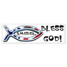 America Bless God! Bumper Bumper Sticker