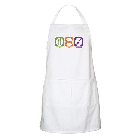 Eat Sleep Archaeology BBQ Apron