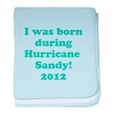 Hurricane Sandy baby blanket