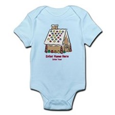 Personalized Gingerbread House Infant Bodysuit