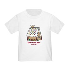 Personalized Gingerbread House T