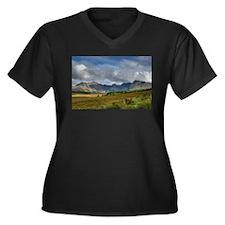 High Hills Women's Plus Size V-Neck Dark T-Shirt