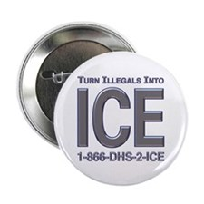 "TURN ILLEGALS INTO ICE - 2.25"" Button (10 pack)"