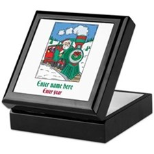Personalized Santa Train Keepsake Box