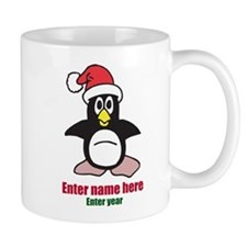 Personalized Christmas Penguin Mug