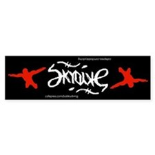 Skydive Ambigram Bumper Bumper Sticker