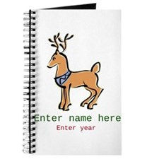 Personalized Christmas Reindeer Journal