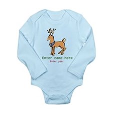 Personalized Christmas Reindeer Long Sleeve Infant