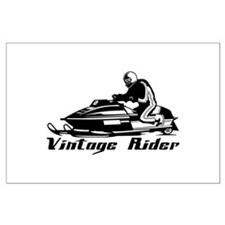 Vintage Rider Large Poster