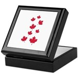 Canada maple leafs Keepsake Box