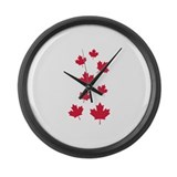 Canada maple leafs Large Wall Clock