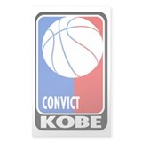CONVICT Kobe Rectangle Bumper Stickers