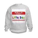 Little Boy Kids Sweatshirt