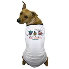 Personalized Christmas Train Dog T-Shirt