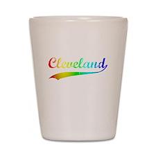 Cleveland, Rainbow, Shot Glass
