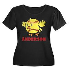 Personalized Softball Chick T