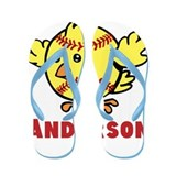 Personalized Softball Chick Flip Flops