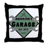 Personalized Garage Throw Pillow