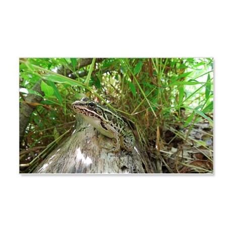 Frog on a log 20x12 Wall Decal