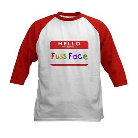 Fuss Face Kids Baseball Jersey
