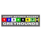 Adopt Greyhounds Bumper Car Sticker