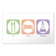 Eat Sleep Biology Rectangle Decal