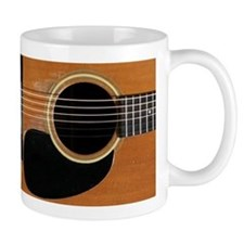 Old, Acoustic Guitar Small Mug