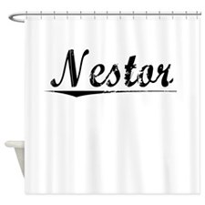 Nestor, Vintage Shower Curtain