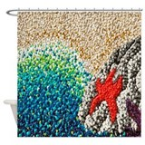 Coastal Pixels Shower Curtain