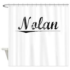 Nolan, Vintage Shower Curtain