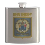 New Jersey Seal (B) Flask
