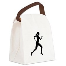 runner girl Canvas Lunch Bag