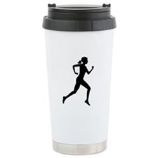 runner girl Ceramic Travel Mug