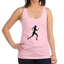 runner girl Racerback Tank Top