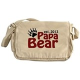 Papa Bear Claw Est 2013 Messenger Bag