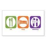 Eat Sleep Chemistry Rectangle Bumper Stickers